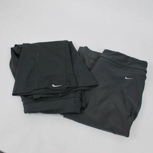 2 Nike Dri-Fit Workout Capris Dark Gray Size M